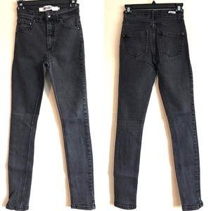 Brandy Melville Dark Gray Skinny Jeans High Rise